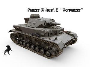 3d panzer iv ausf e model
