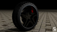 3d mercedes benz wheels