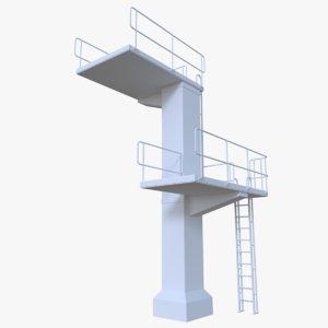 diving tower obj