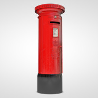 3d model postbox box