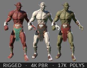 orc character 3d model