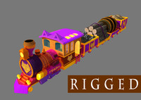 Cartoon_Train_rigged