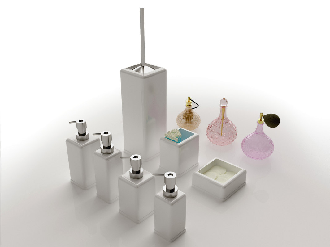 3d cosmetics perfume model
