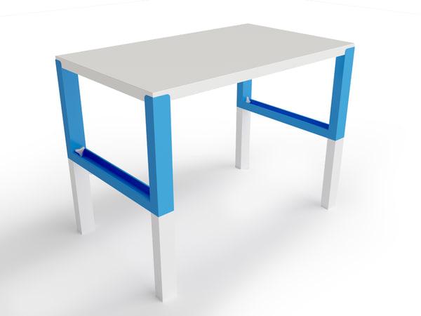 3d ikea pahl desk model
