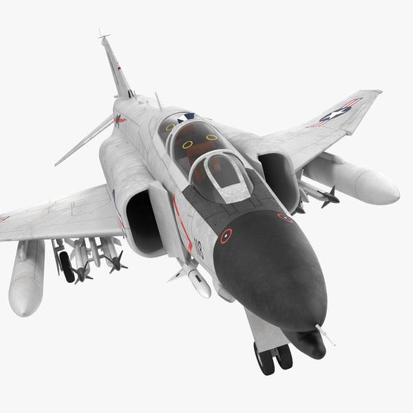 3d f-4 phantom ii navy model