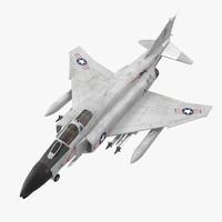 F-4 Phantom II US Navy Rigged 3D Model