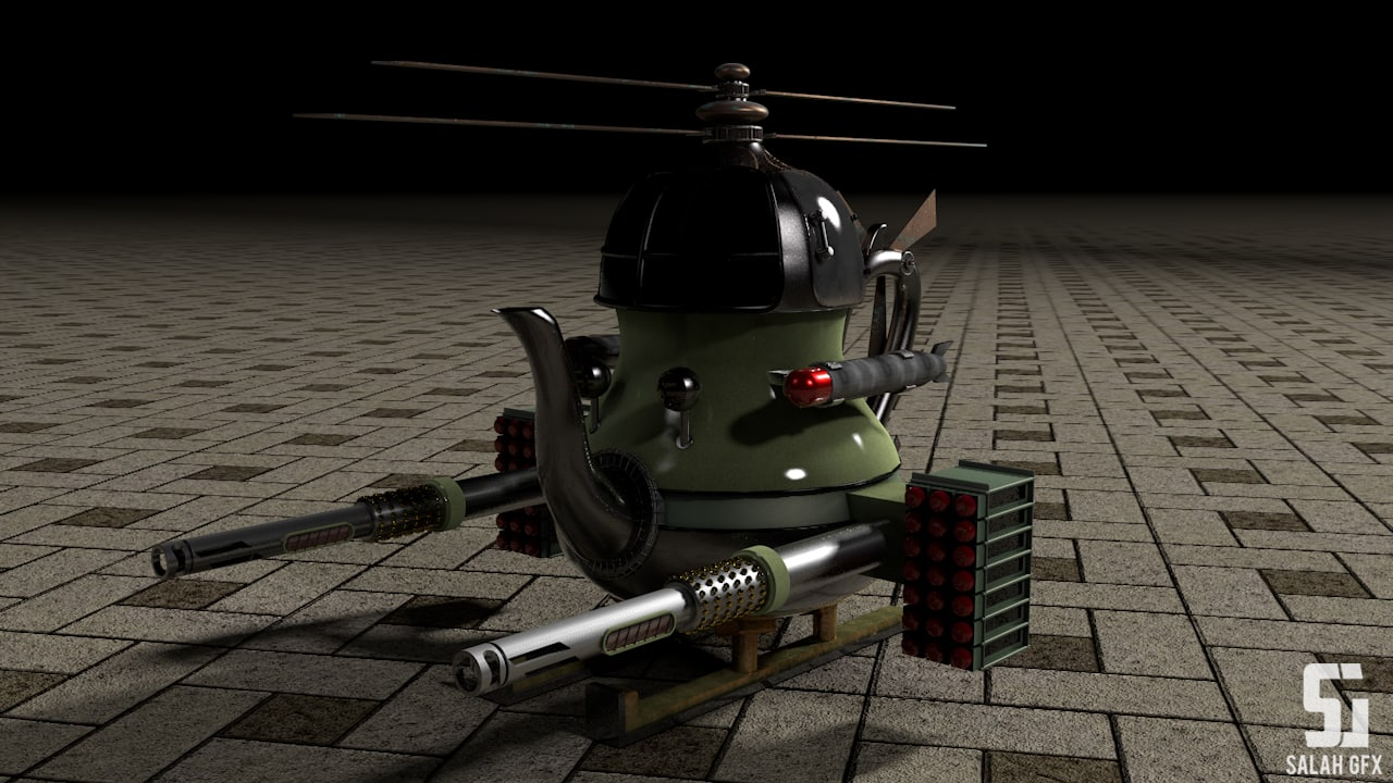 teapot helicopter c4d