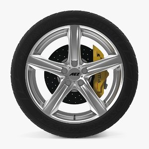 yacht disk car wheel 3d model