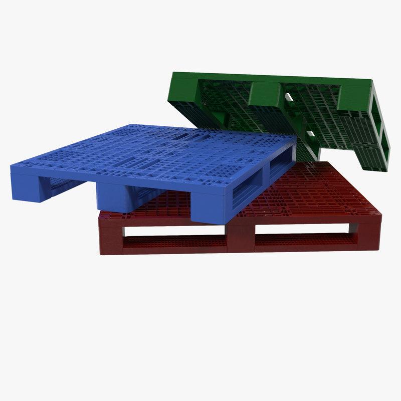 3d plastic pallet set