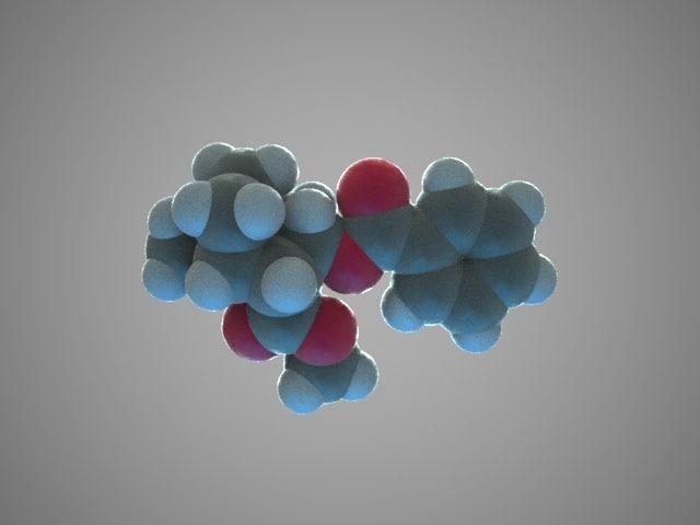 3d model of molecule cocaine