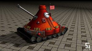 3d tank tajin model