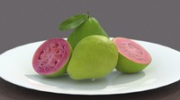 3d dish guavas model