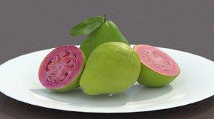 3d dish guavas model