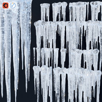 3d model icicle set