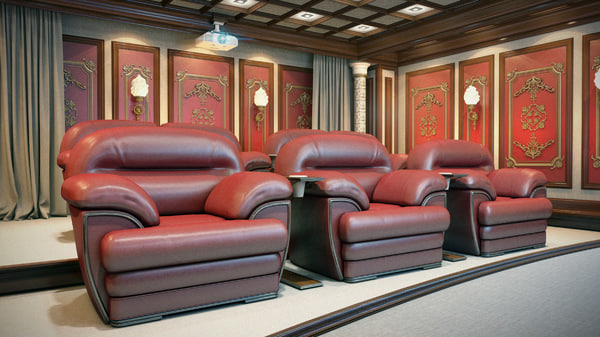 theater home interior 3d model