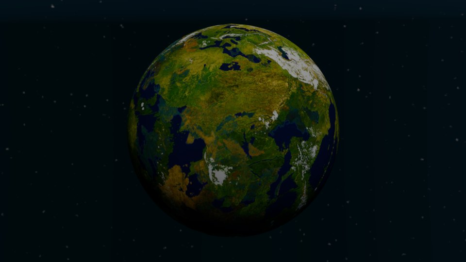 3d model earth terra hdr