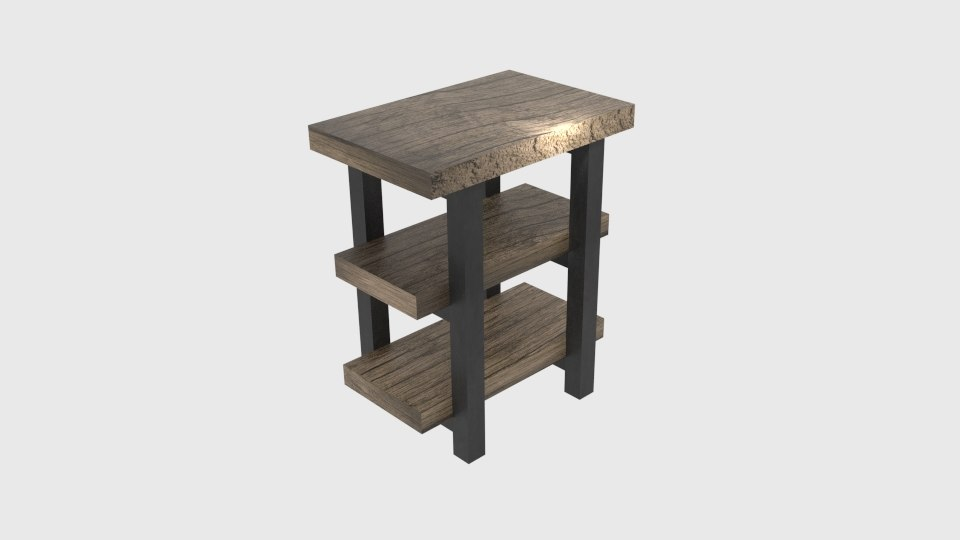 3d pomona end table natural model