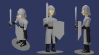 3d male medieval