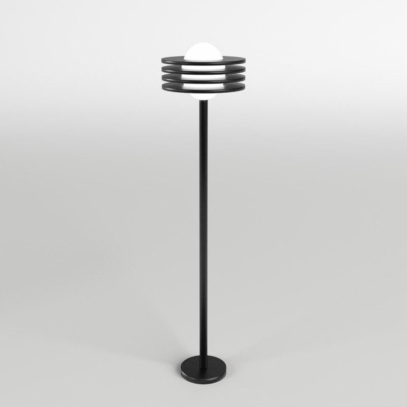 3d garden floor lamp 1