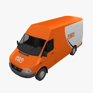 3d model mercedes sprinter tnt