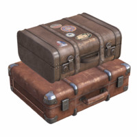 3d model gameready suitcases