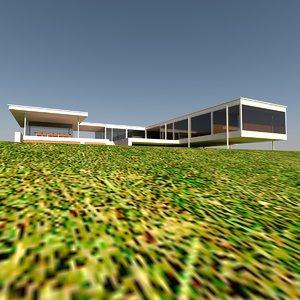 3d residential villa model