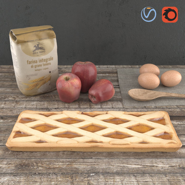 3d model apple pie