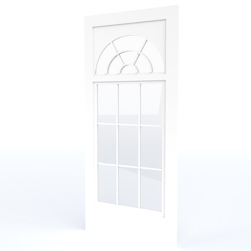 3ds half moon casement window