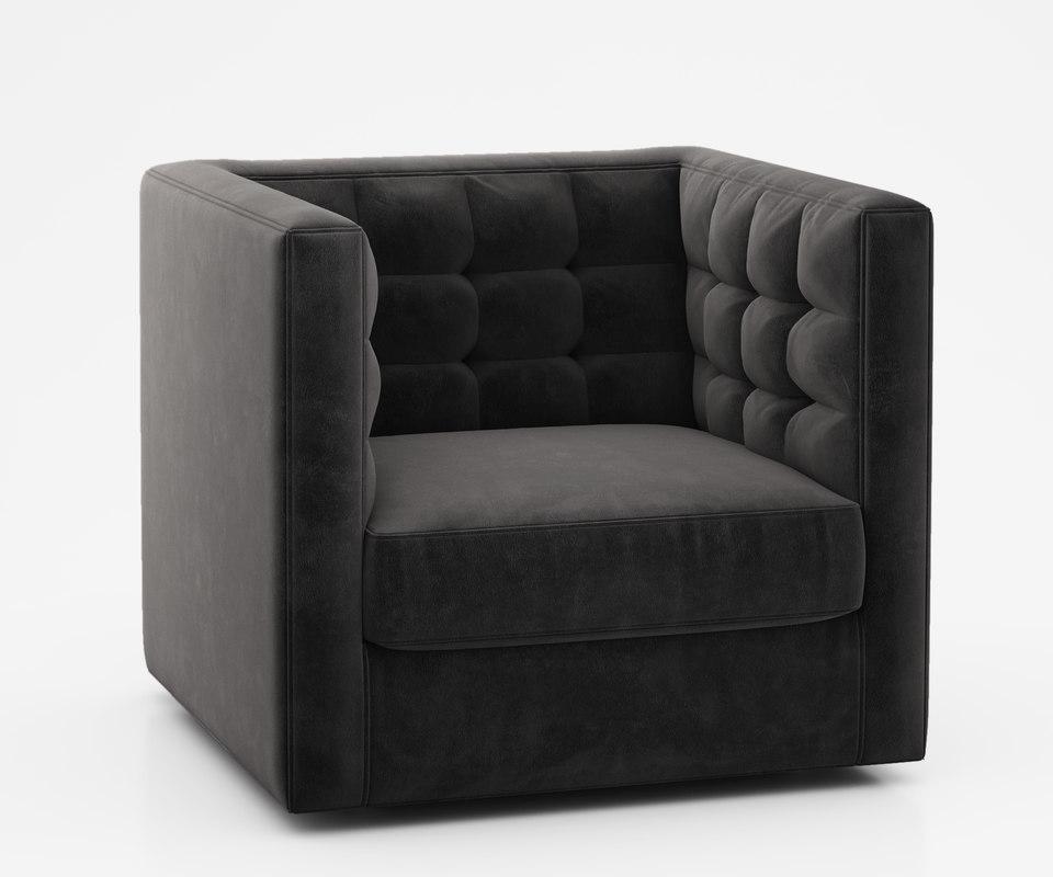 rochester swivel armchair 3d model