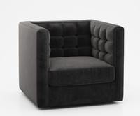 rochester swivel armchair 3d model