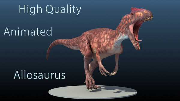 3d high-quality allosaurus model