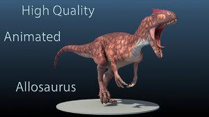 3d high-quality allosaurus model