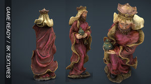 3d melchor king model