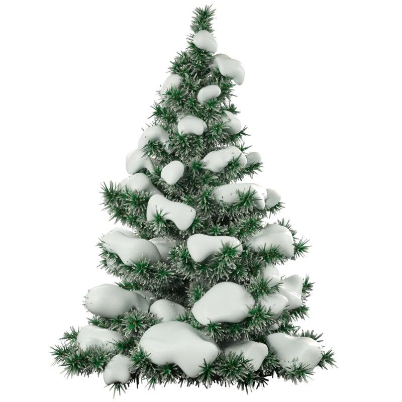 3d snow fir tree