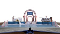 fbx cartoon ice rink