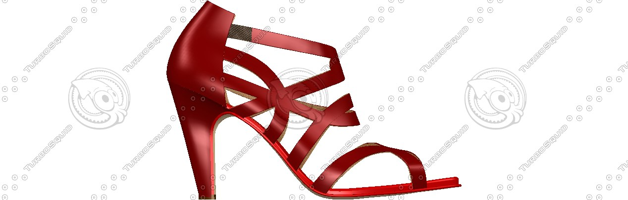 women s shoes designed 3d obj