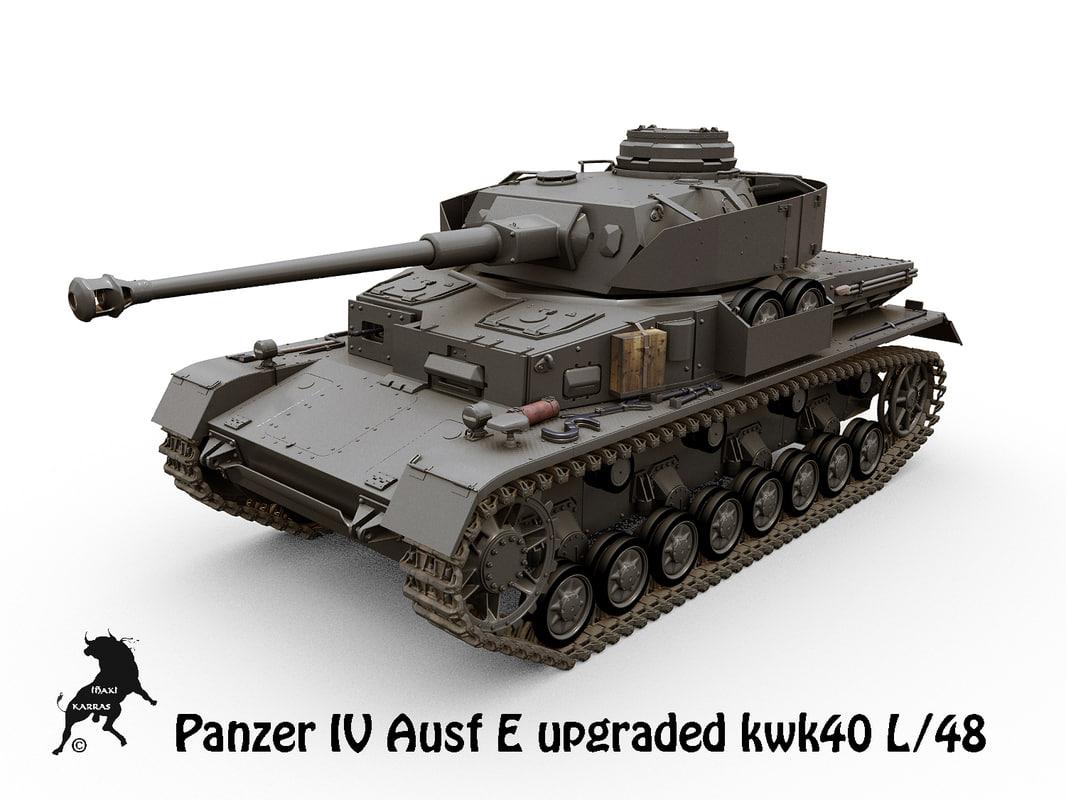 panzers tanks iv ausf 3d model