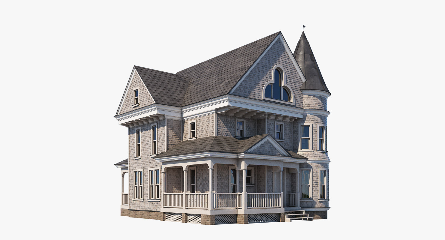 mansion realistic 3d obj