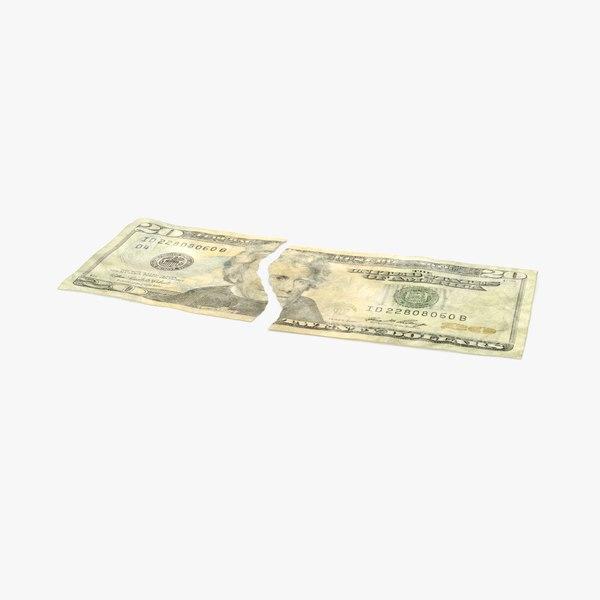 20 dollar bill torn max
