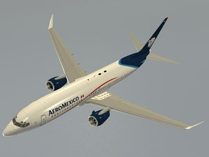 3d b 737-800 aeromexico model