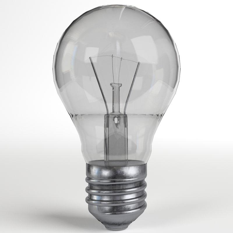 3d model of light bulb lamp 1