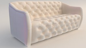 3D sofa upholstery buttons model