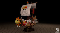 3d model modeled thousand sunny