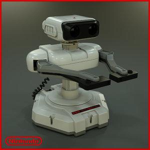 3d model nintendo robotic rob