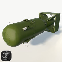 3d nuclear bomb little boy model