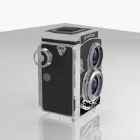 3d model camera vintage flexaret