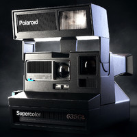 3d polaroid 635cl instant camera model