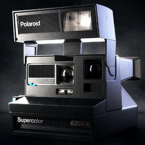 3d polaroid 635cl instant camera model