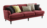 ikea stocksund three-seat sofa 3d obj