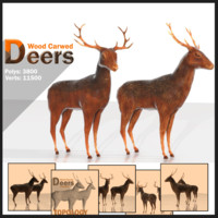 wood deers 3ds